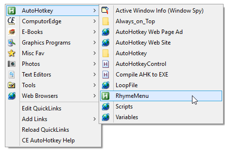 New Version of QuickLinks AutoHotkey Script | Jack's AutoHotkey Blog