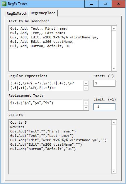 V2 RegEx Convert GUI