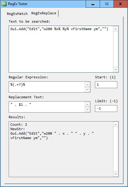V2 RegEx Percent Convert GUI