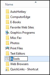 QuickLinks Add Keyboard Shortcuts
