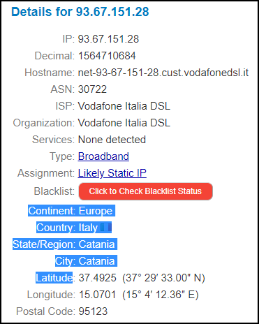 IPFind Web Page